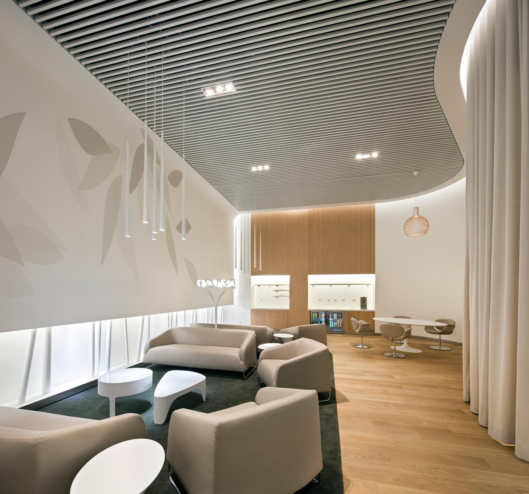 Visite du nouveau salon air france dans le s4 services for Espace 3 architecture