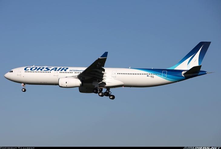 Airbus A330-300 en vol d'essai chez Airbus encore immatriculé F-WWYE et futur F-HZEN © Airliners.net T. Laurent