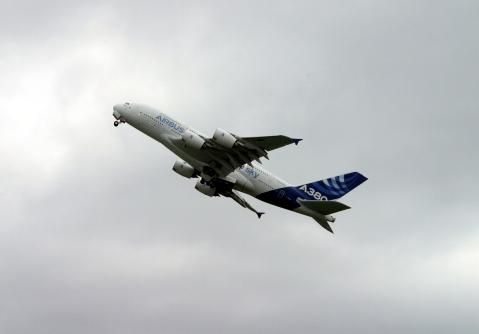 L'A380 au décollage