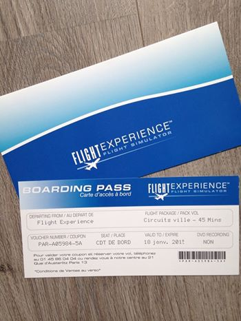 Boarding Pass Flight Experience