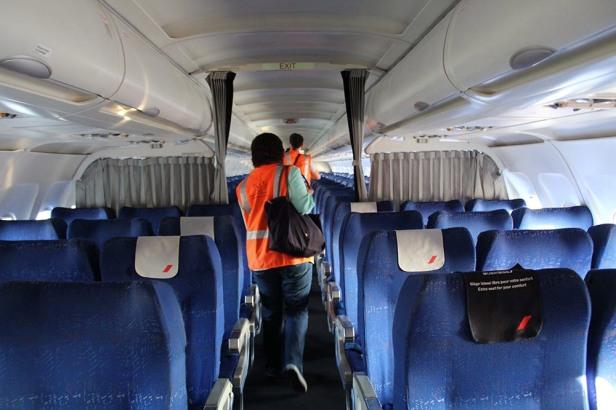 L'ancienne cabine Air France est intacte ! © Sophie Figenwald