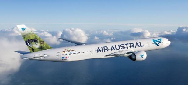 La nouvelle livrée Air Austral sur un Boeing 777 © Air Austral